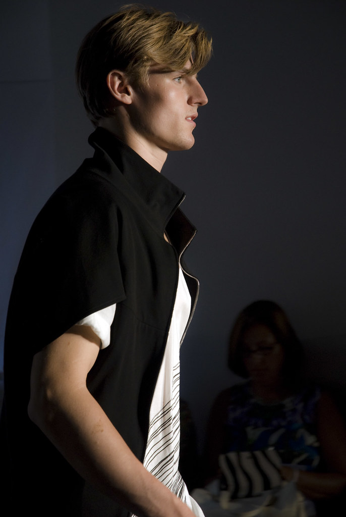 Male model at New York City Couture Fashion Week