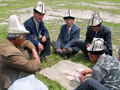 Akkolpakistan (Evgeni Zotov) Tags: street old people gambling man game asia village play card sit wait rest kyrgyz kyrgyzstan gamble pension kirghizistan kirgistan kirgizia kirgizistan kolpak aksakal kirgizi kirgisistan karasuu  kirguistan kirghizia krgzistan quirguisto      akkolpak  aqsaqal