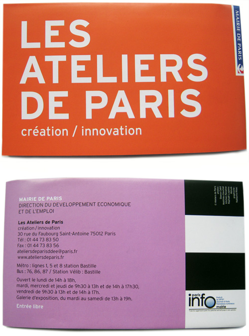 Plaquette - Ateliers de Paris