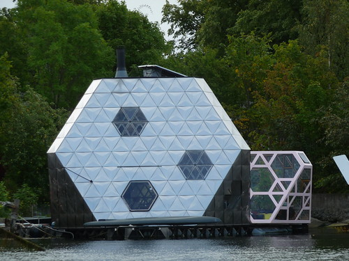 Space age boat house