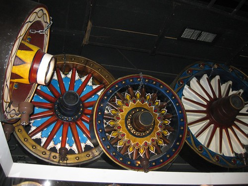 Circus wagon wheels