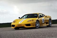 Ferrari 360 Challenge Stradale (Jeroen Buitenhuis) Tags: holland car yellow club canon eos italian jeroen 360 s ferrari pch porsche user 17 85 ef challenge v8 lelystad users stradale politie 50d buitenhuis 4oktober2009 acedemie