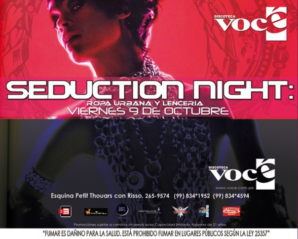 Seduction Night - Vocé