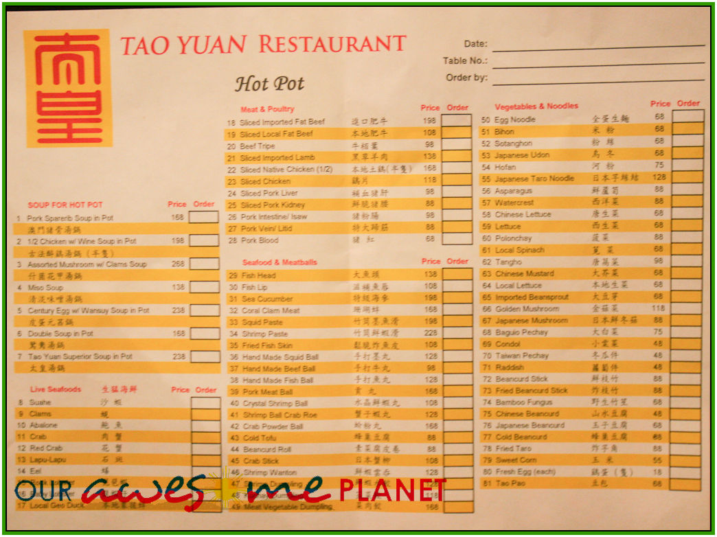 Cafe Del Sol Menu Koh Tao