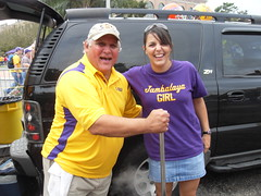 Mike Serio and Jambalaya Girl (Cook Me Somethin' Mister) Tags: lsu website tailgating jambalaya castironpot yumyumgirl lsuvsflorida jambalayagirl doublecooker neworleansstylecooking