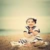 S A I L O R (Shana Rae {Florabella Collection}) Tags: ocean sea summer portrait baby shells beach girl hat vintage sand dress action explore shore sailor frontpage shanarae florabellacollection