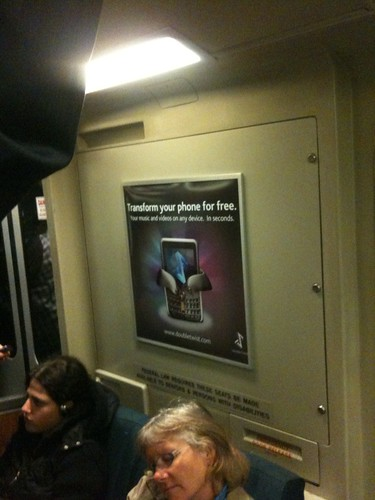 Our old doubleTwist ad is still on this BART car!