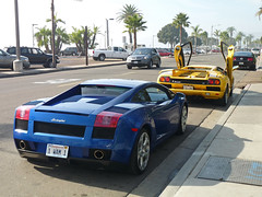 Lamborghini Gallardo & Diablo VT (Hayden G. Photography) Tags: blue orange white black cars car yellow 40th san anniversary diego spyder made lp diablo 50 lamborghini 60 sv vt countach gallardo roadster murcielago lambo 5604