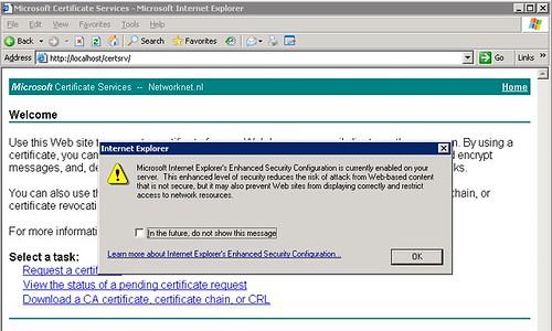 disable Internet Explorer Enhanced Security Windows Server 2003