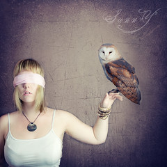 The wise owl. (Pink Pixel Photography (f.k.a. Sunny)) Tags: selfportrait photomanipulation owl happyhalloween sigma1770mm canoneos400d wwwpinkpixelat pinkpixelphotography
