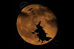 Happy Halloween (jhames808.com) Tags: halloween night nikon witch bat fullmoon broomstick jhames d90