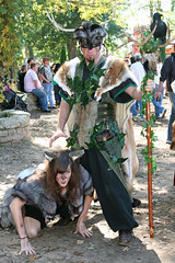 Barbarian and She Wolf (wyojones) Tags: boy woman man guy girl beauty face look animal festival mouth eyes skins wolf texas expression lips trf antlers bite warrior faire renfaire brunette renaissancefestival fangs facepaint renaissance renaissancefaire renfest snarl rennie shewolf texasrenfest renaissanceman texasrenaissancefestival plantersville animalskins wolfwoman toddmission toddmissiontexas wyojones beautifulhandsandknees wolfwarrior