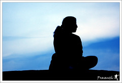 Tujhe Mein Rab Dikhta Hai..... (Gulfu) Tags: blue sunset black love silhouette canon leena lalbagh 55250mm 1000d