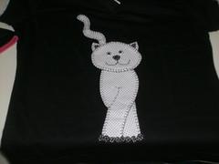 Gato 05 (Selma Artesanatos) Tags: gato camiseta aplique