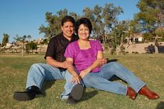 Michael and Cathy (photosbykathleen68) Tags: family arizona fall love beautiful portraits fun outdoors engagement familyportrait 2009 engagementphotos photographybykathleen photosbykathleen68 couiplesportraits
