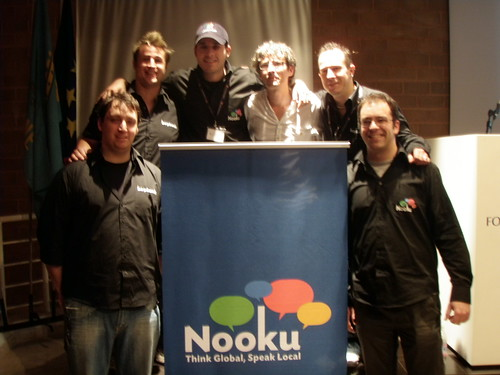Nooku & Beyounic teams at the JoomlaDay Italia Rome 2009