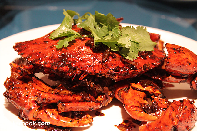 Black Pepper Crab with Fresh Peppercorns