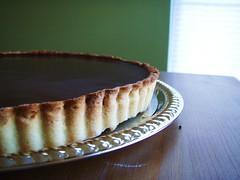 chocolate crunched caramel tart - 34