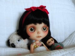 Missy Boo is homesick :( (GBaby - super busyyyy) Tags: doll day sad parade rainy blythe freckles custom sbl