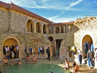 La piscine circulaire Hammam essalhine khenchela aures