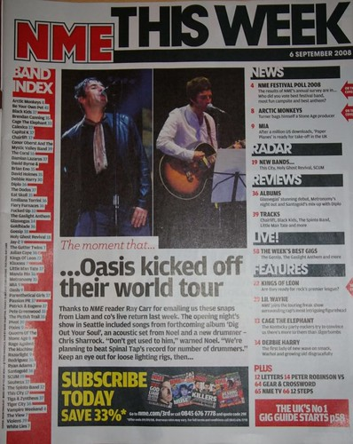 NME Contents Page