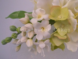 White Freesia by Petalsweet Cakes