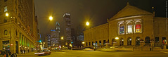 In front of AIC, Panorama, 2 Dec 2009 (photography.by.ROEVER) Tags: nightphotography autostitch panorama chicago skyline night evening illinois december michiganave panoramic artinstituteofchicago nightphoto 2009 downtownchicago cookcounty aic chicagoskyline adamsst chicagopanorama nightphotograph december2009