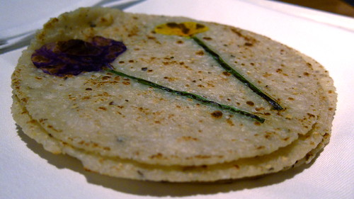Tortillas florales - housemade nixtimal tortillas, 'Indian Butter'
