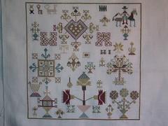 Oude merklap (Moemoe Vetje) Tags: crossstitch embroidery kruissteek naaiwerk
