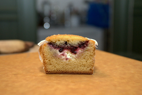 blackberry jam and cream filled cross section