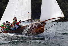 Choppy water ..... (Bruce Kerridge) Tags: summer water sport race fun boat nikon sailing yacht sydney australia explore nsw sail recreation weekly skiff sydneyharbour yachting mosman d80 18footskiffs plusten