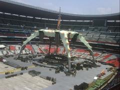 Septimo día de montaje - Estadio Azteca 49