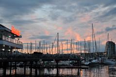 Marina at Dusk (neilpriv) Tags: sunset sky vancouver dusk falsecreek vancity