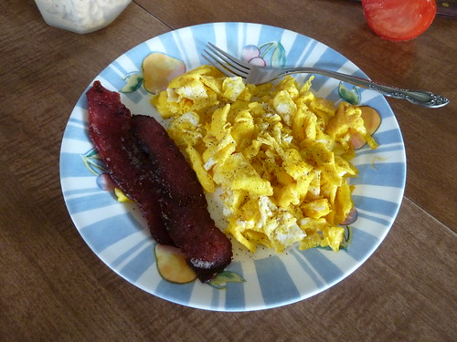 Venison Bacon and Eggs