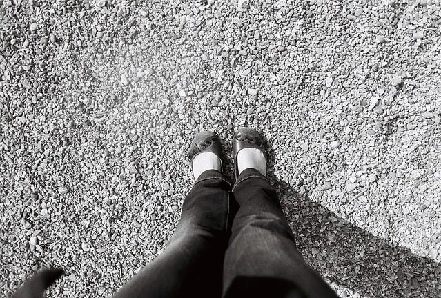 my feet on film in B&W
