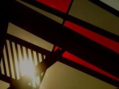 Soleil.. Sun... (alainpere407) Tags: alainpere coucherdesoleil sunset fondationlouisvuitton vividstriking