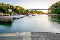 Le Bono (patrice.baissac) Tags: france bretagne brittany morbihan water golfedumorbihan port harbour pont bridge bateaux boats rivière river poselongue longexposure lebono