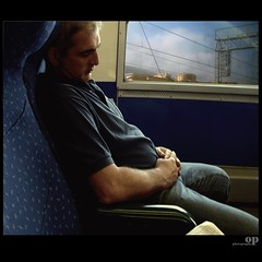 Exhausted (Osvaldo_Zoom) Tags: train sleep journey commuter worker exhausted trenitalia