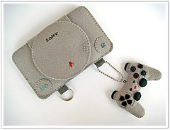 Felt Playstation Console Case for iPhone or iP...