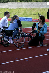 Look North interview ahead of the Jane Tominson Leeds 10K. 19/6/09 (Josh Cockroft) Tags: tv track wheelchair leeds disabled 10k athletes interview disability looknorth 19609 runforall janetomlinson tanyaarnold hannahcockroft matthewhickling miketomlinson