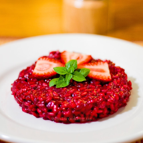 Strawberry and Basil Risotto