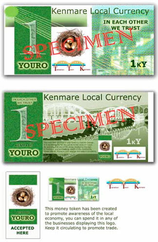 Kenmare 'Youro' sample notes and signage. The project was launched on 15th May of this year and will run till the Autumn.
