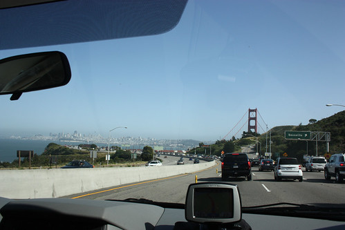 First glimpses of the Golden Gate Bridge