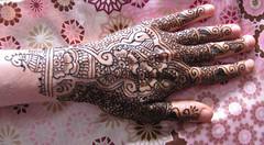 Henna on My hand paste on