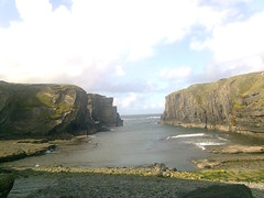 The creek (sketchav) Tags: ireland west coast seaside clare cliffs