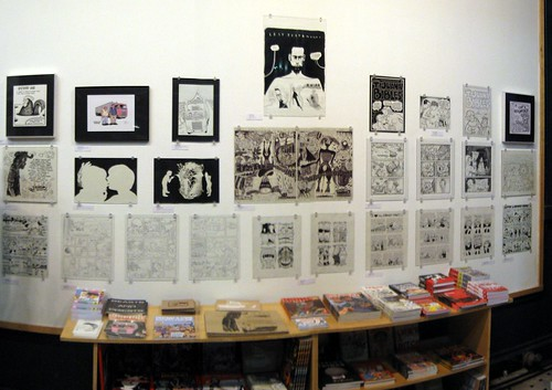 comics savants exhibit, fantagraphics bookstore, seattle