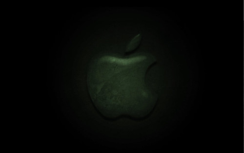 apple logo wallpaper. Apple logo wallpaper green