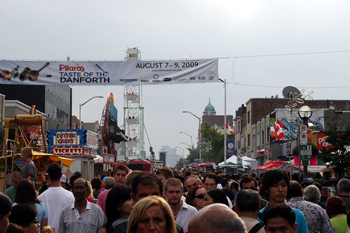 Crowd at Taste of the Danforth 2