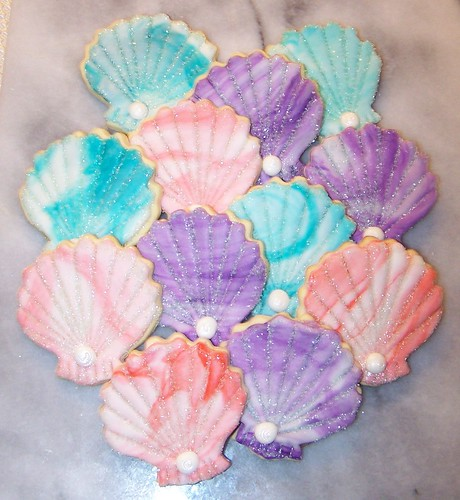 Sparkly Summer Cookies/Shell  cookies