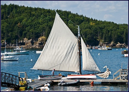 sailboat harbor boat ship maine sail barharbor